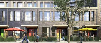 A design of the new units to be constructed in Allenbury Gardens.