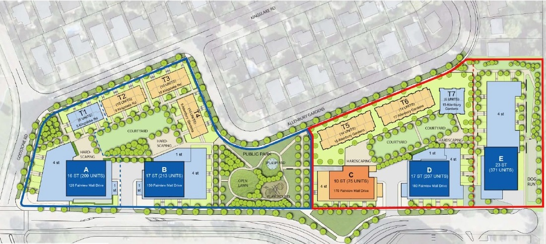 Rendering of Allenbury Gardens master plan