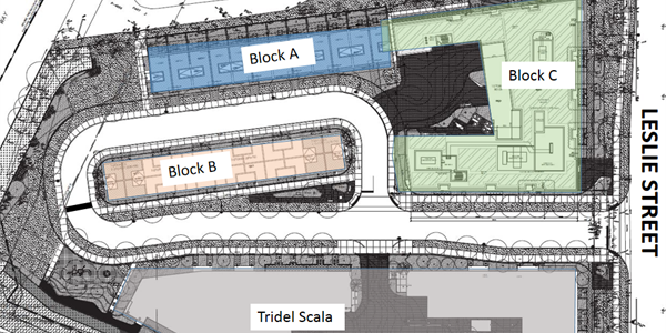 Site plan of the Leslie Nymark community.