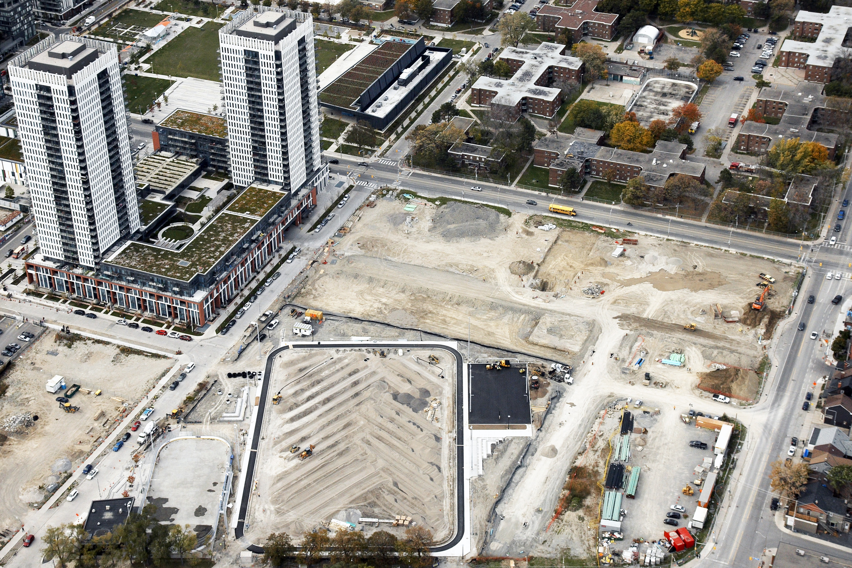 Construction sites of Regent Park