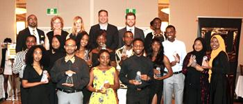 Group shot of the 16 Limitless Heights Scholarship winners
