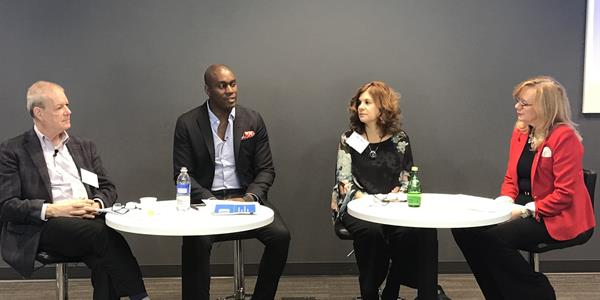 Left to right: Steve Gesner, Michael Eubanks, Luisa Andrews and Tracey Laurence
