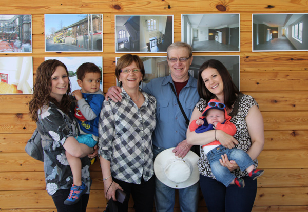 Former residents Bill and Nancy Mathison and their family were excited to be back at 42 Hubbard Boulevard.