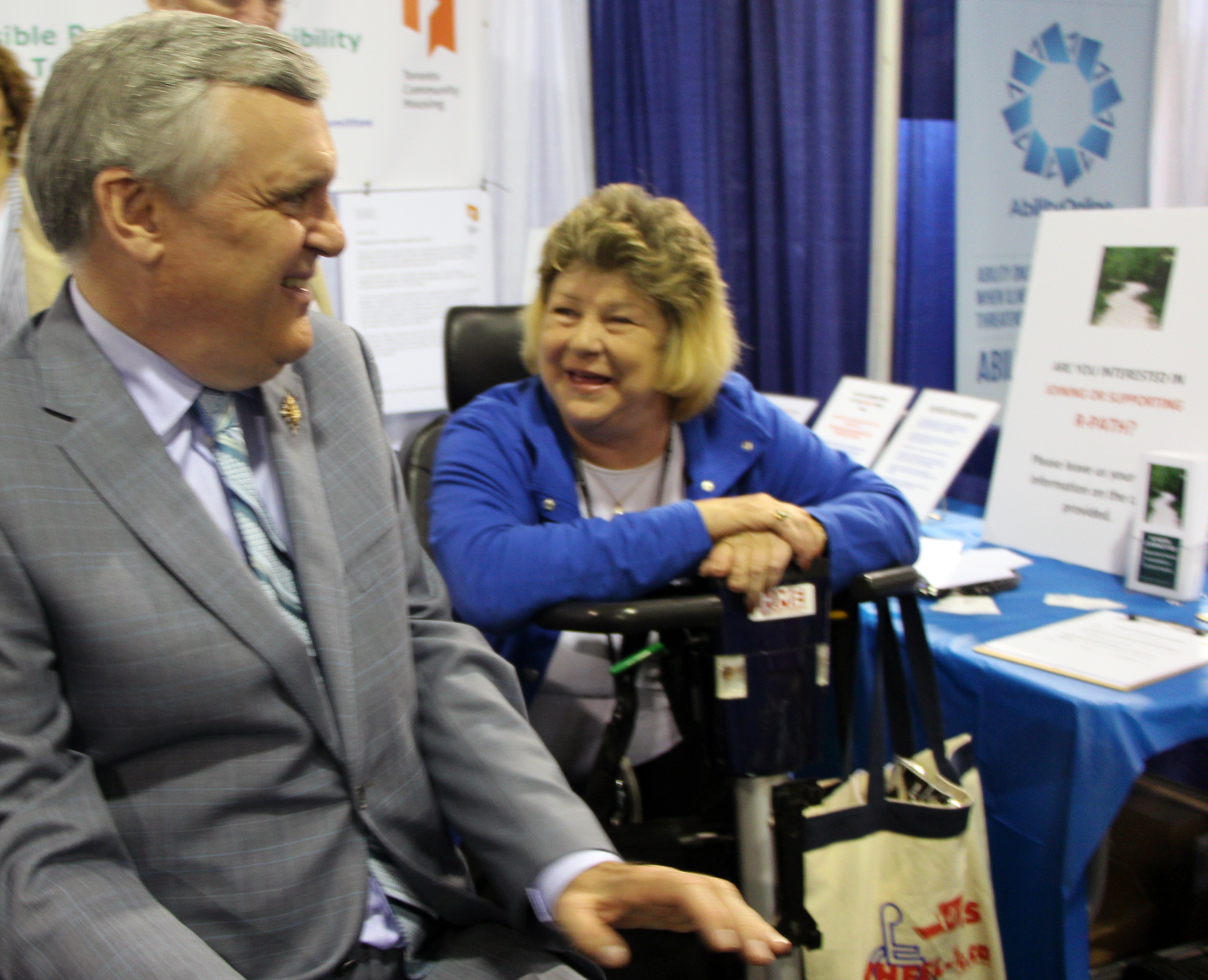 Photo of The Honourable David C. Onley, Lieutenant Governor of Ontario with Cathy Birch, R-PATH Chair