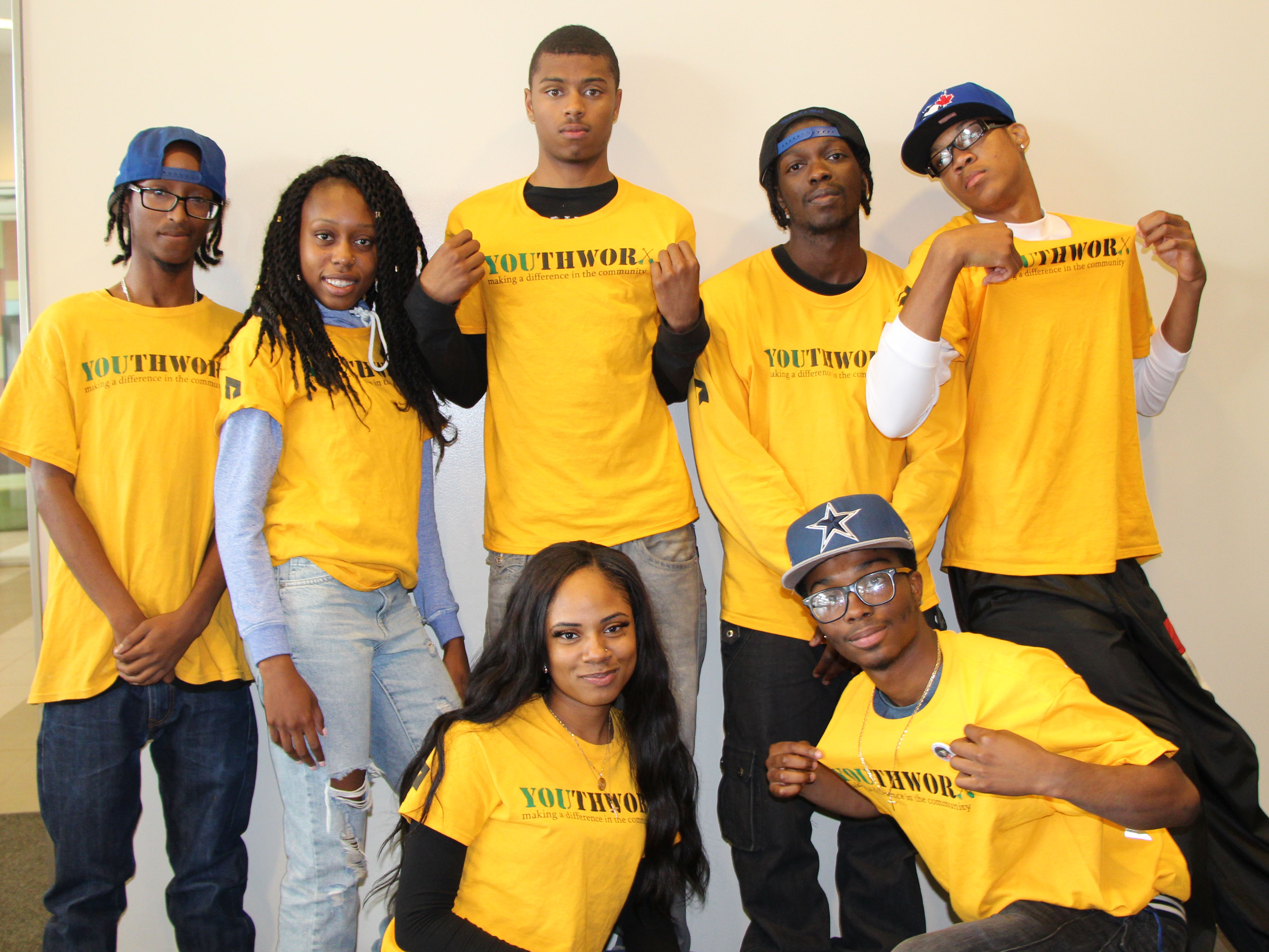 YouthWorx participants in their yellow t-shirts at the final training day for YouthWorx 2015
