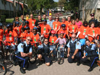 Group Photo at the bike event in Chester Le