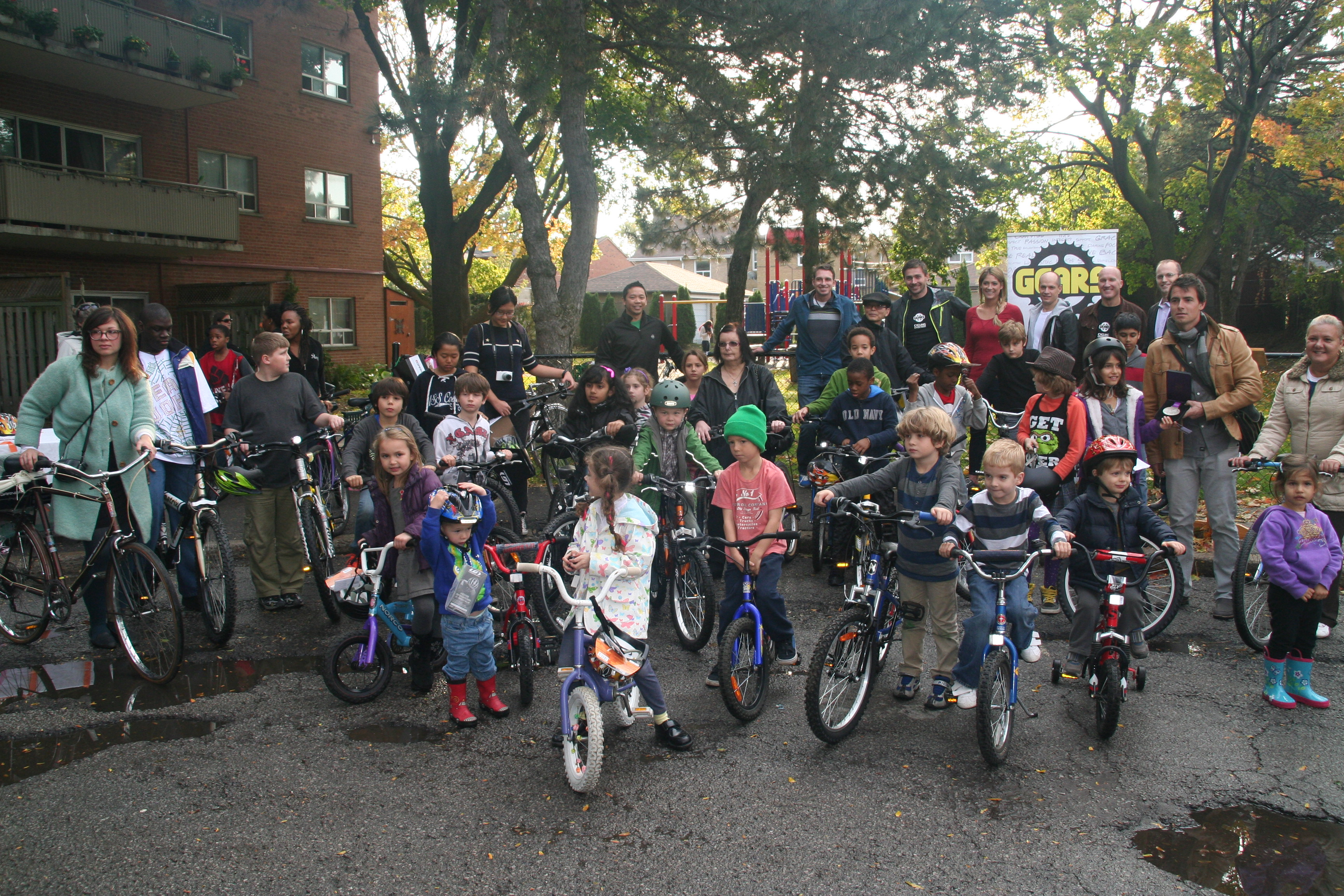 People of all ages, including many Toronto Community Housing residents, won bikes in the contest held for the Ward 19 community.