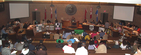 Tenants gather in the North York City Council Chambers at the 2006 Allocation Day.