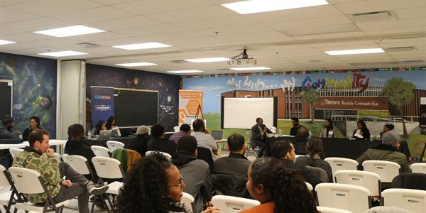 Photo above: Participants at the career networking and info session.