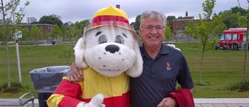 Greg Spearn participating in the Fire Safety Week