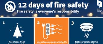 image of 12 days of safety poster