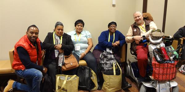Residents and staff at the ONPHA Conference