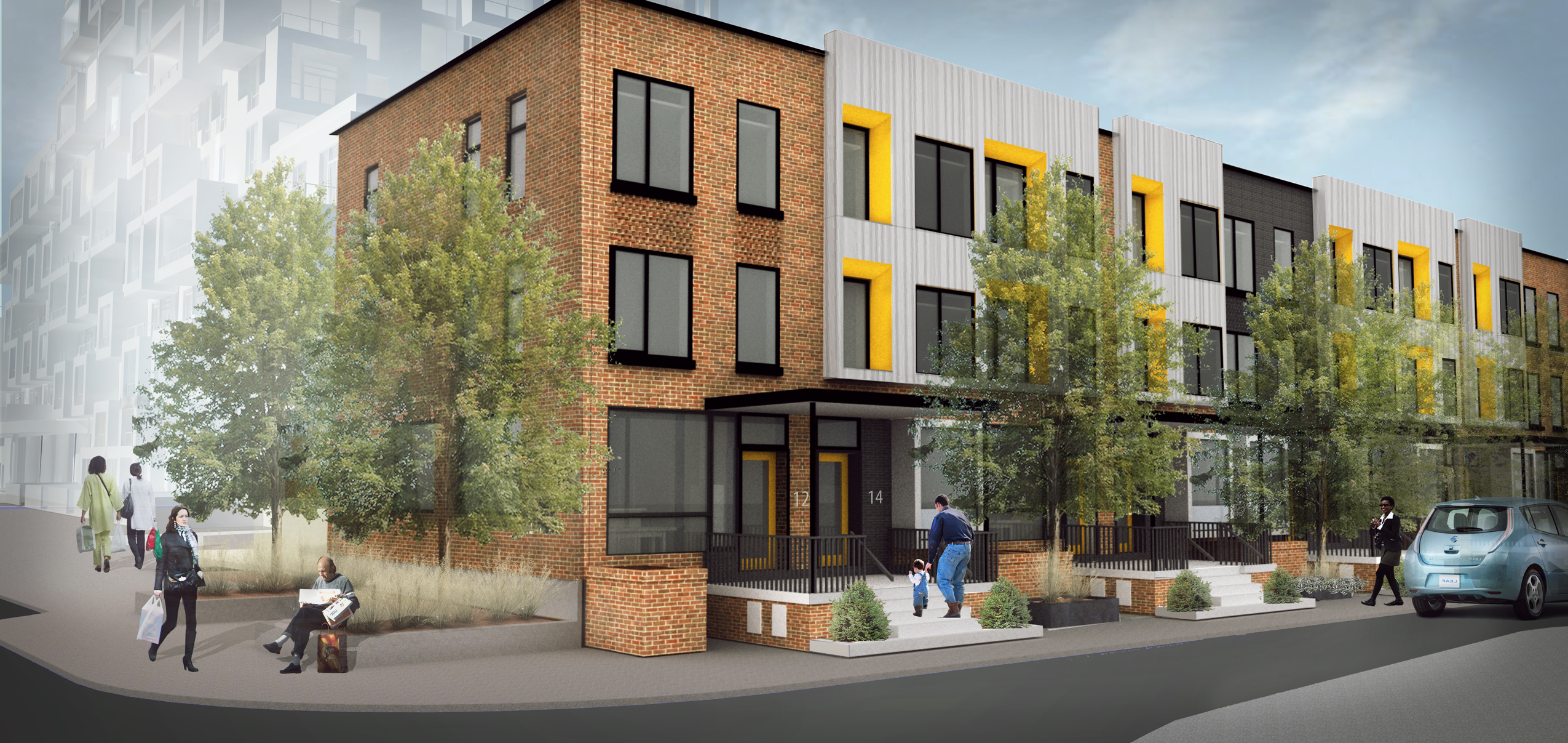 Artist renderings of the new townhomes at Alexandra Park.