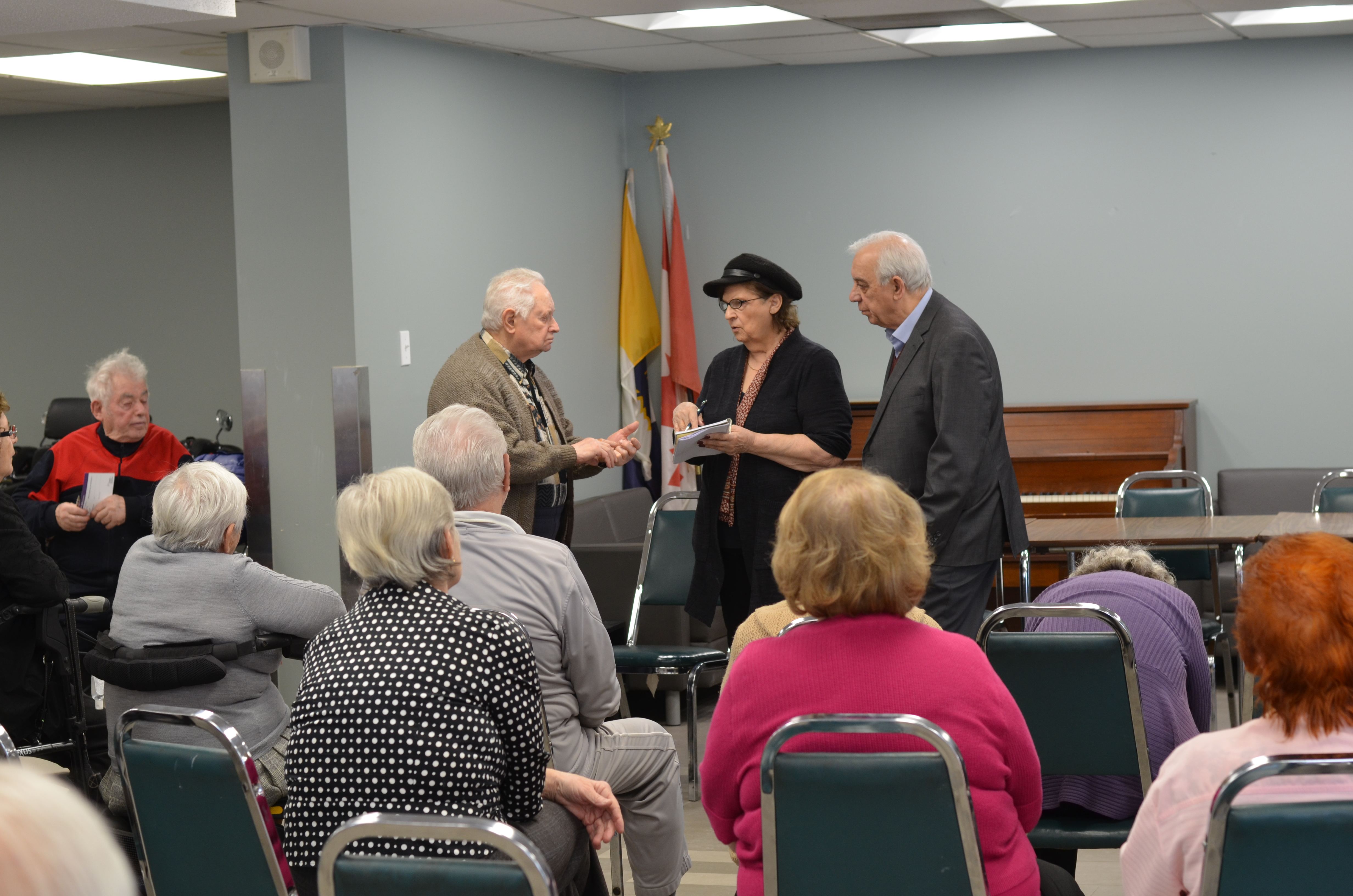 Presentations to tenants educated seniors on the new plan.JPG