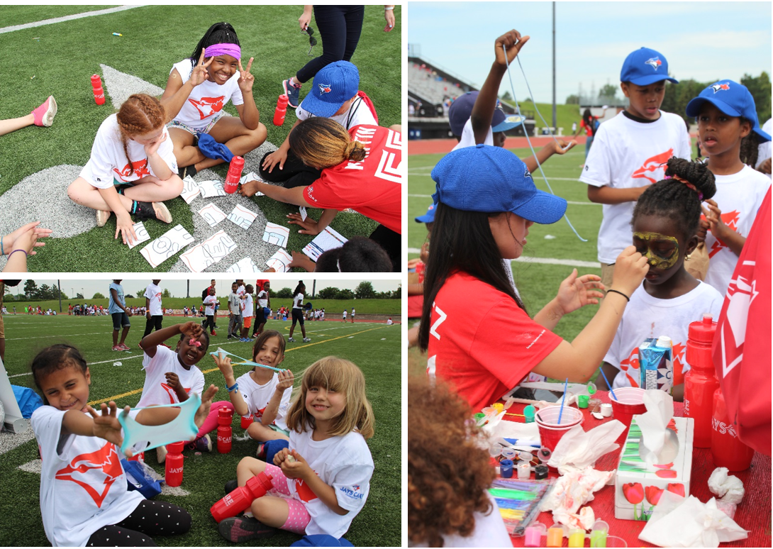 Rookie League kids get hands on with arts and crafts activites and face painting on Opening Day.