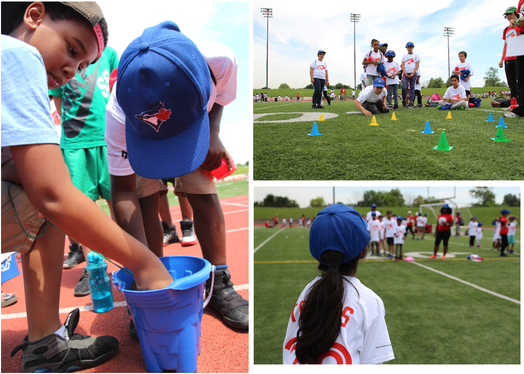 Rookie League kids get into the comptetitive spirit with interactive games and challenges.