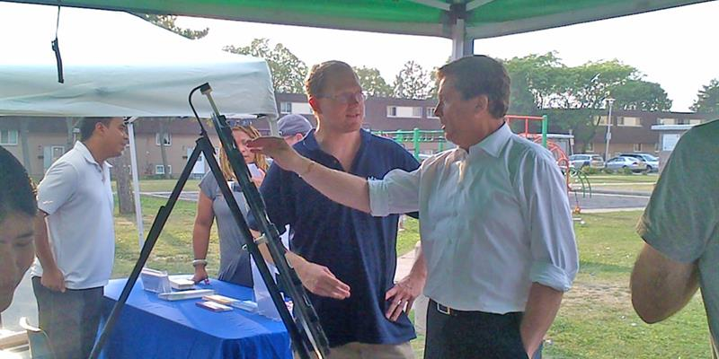 Mayor Tory at the conservation fair