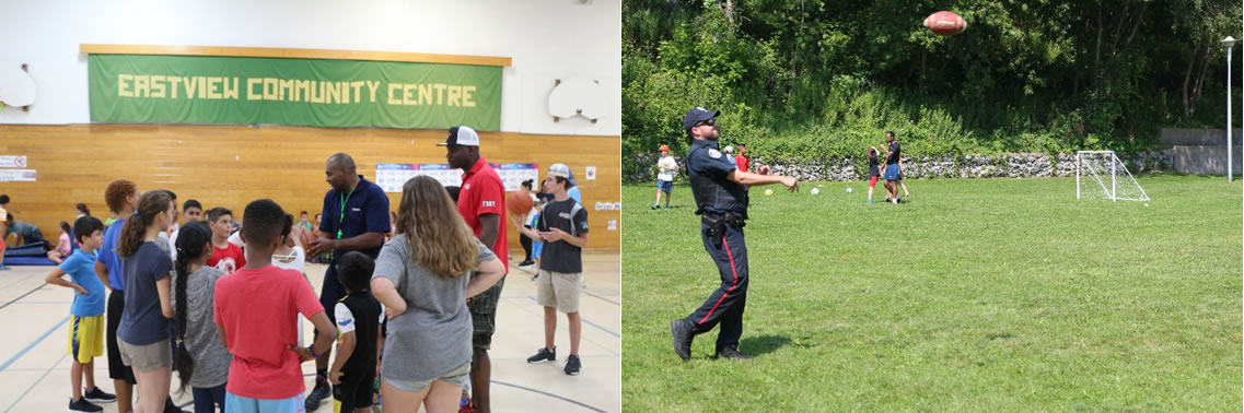 Children and Toronto Police Service member