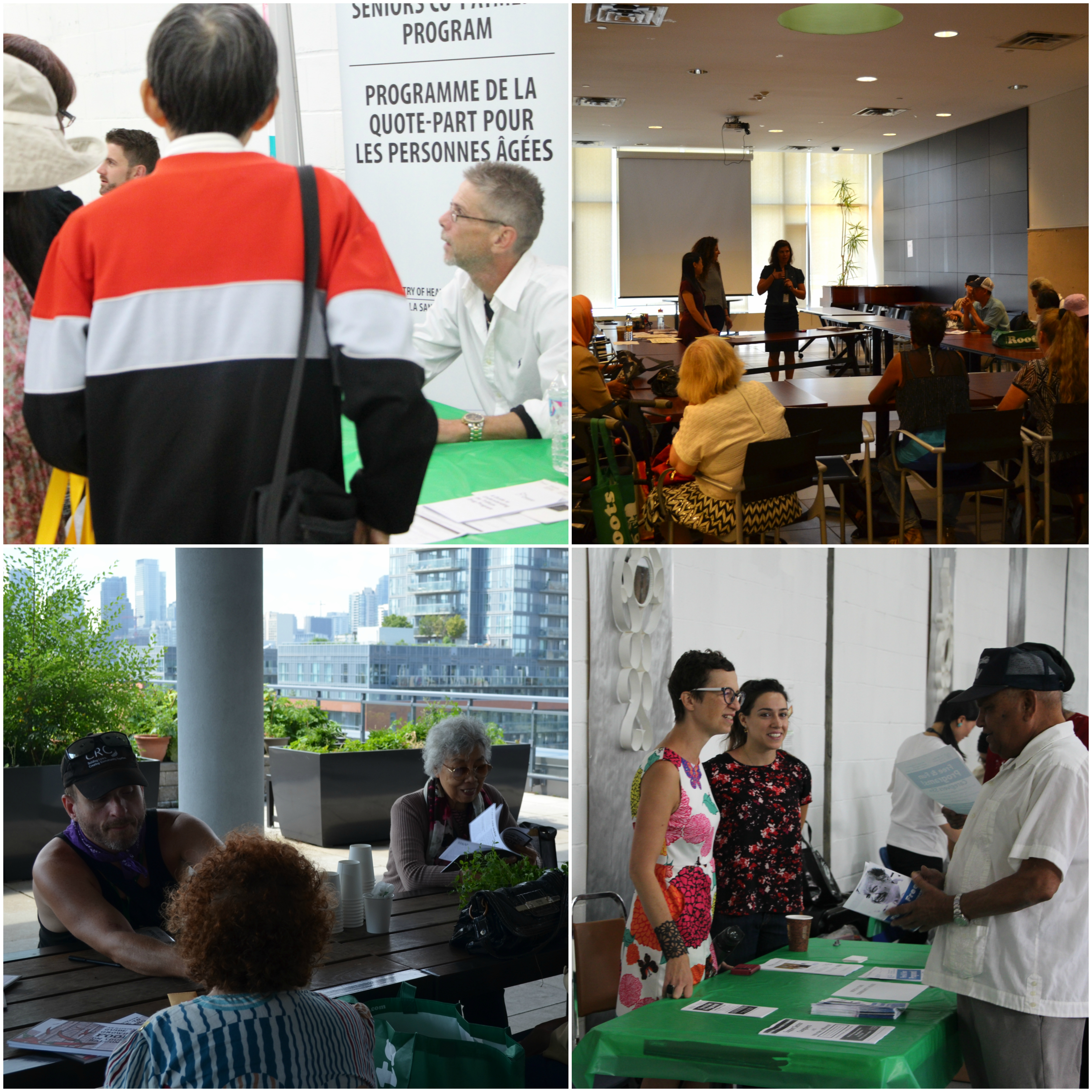 Community agencies infrom residents about support and services in workshops and presentations. ​