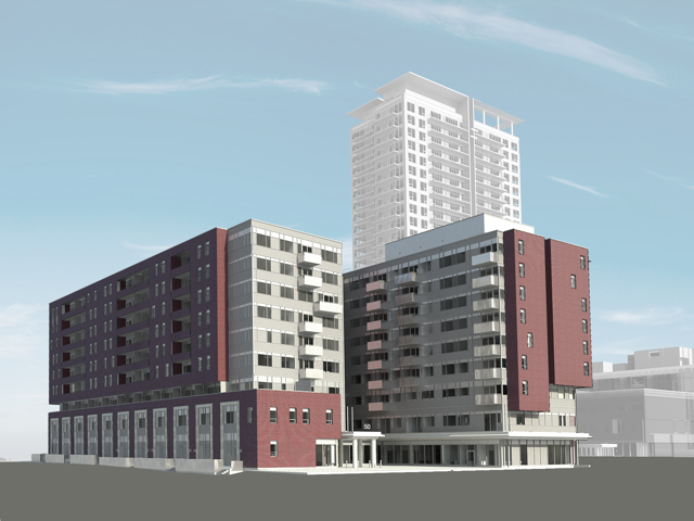 Illustration of building at 50 Regent Park Blvd.