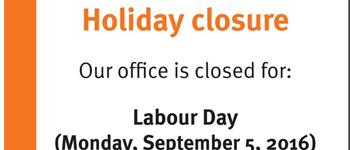 Image of the Holiday Closure poster