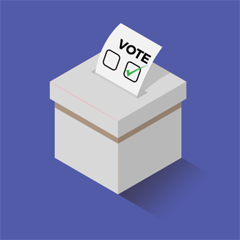 An illustration of a voting ballot box.