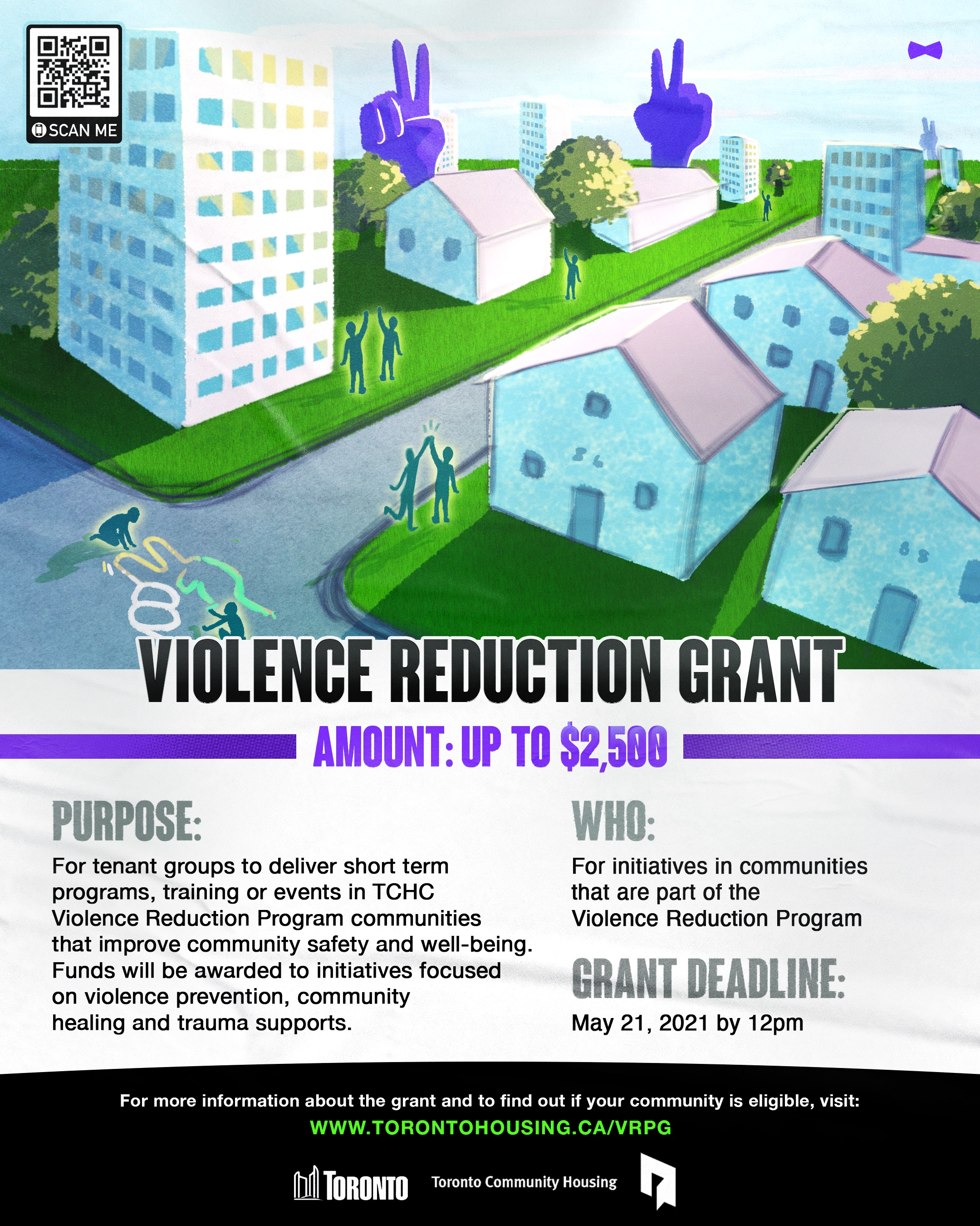 Violence Reduction Grant poster